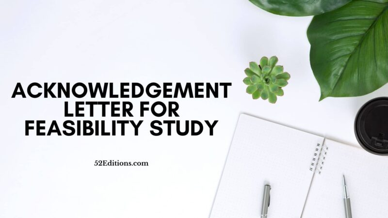 Acknowledgement Letter For Feasibility Study