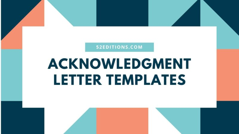 Acknowledgment Letter Templates