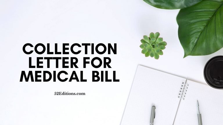 Collection Letter For Medical Bill