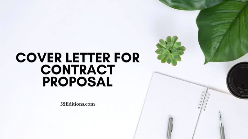 Cover Letter For Contract Proposal