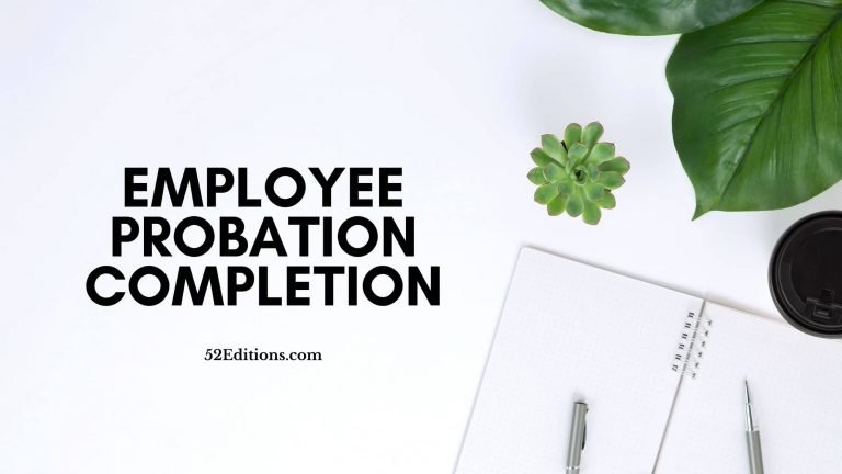 Employee Probation Completion Letter