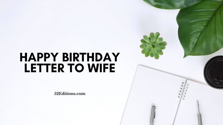 Happy Birthday Letter To Wife