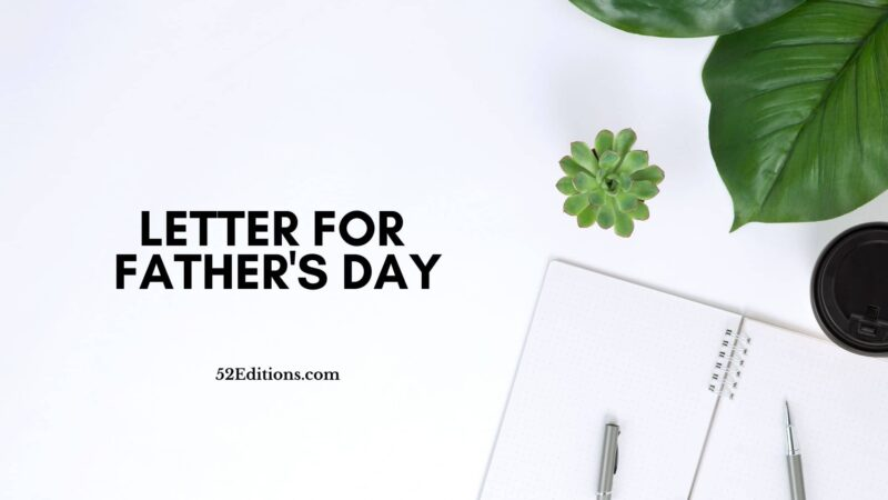 Letter For Father's Day