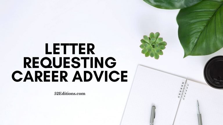 Letter Requesting Career Advice