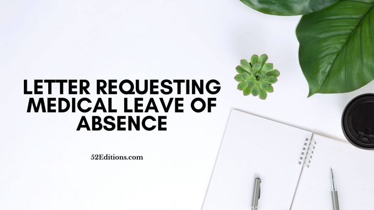 Letter Requesting Medical Leave of Absence