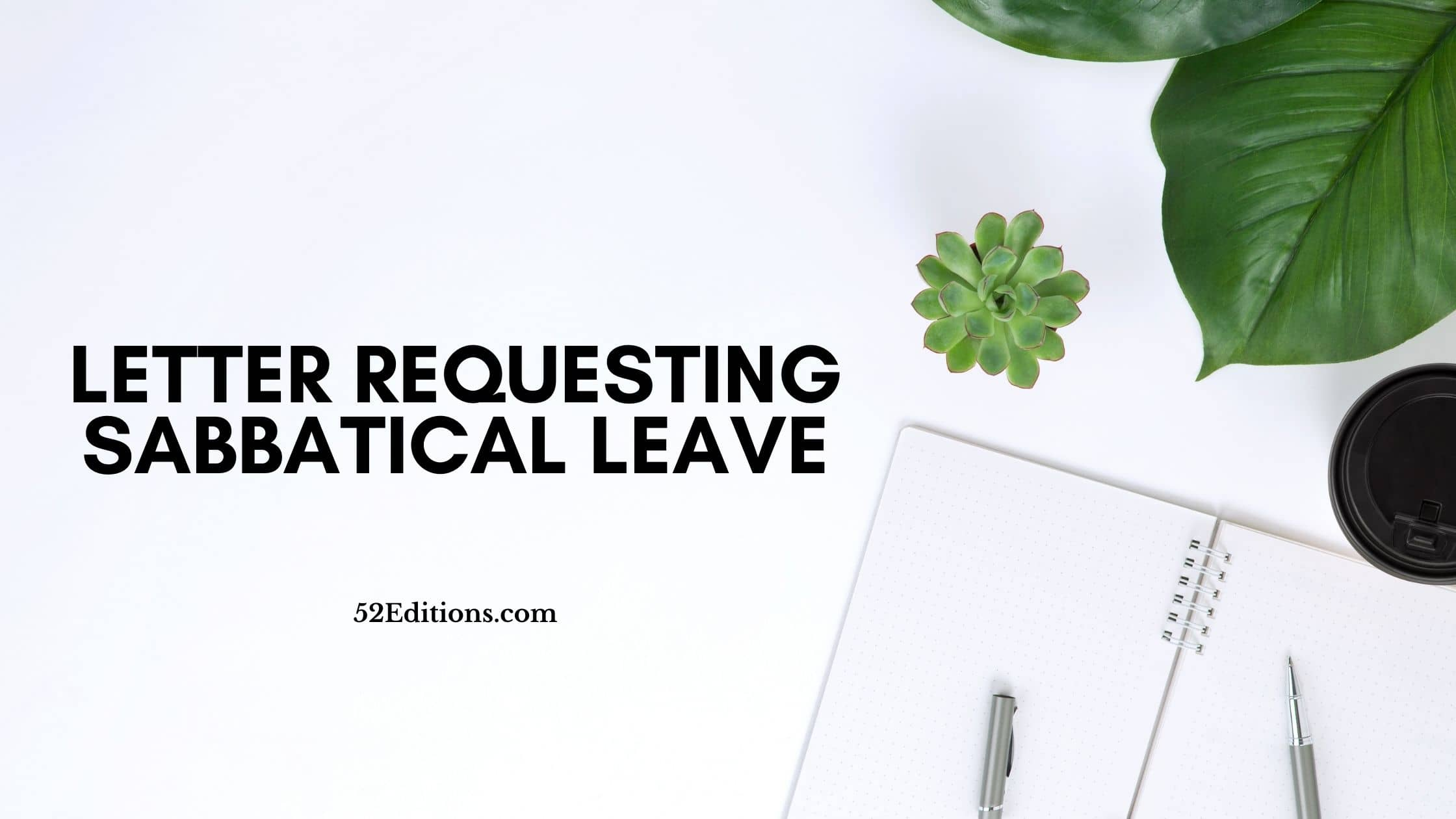 Letter Requesting Sabbatical Leave