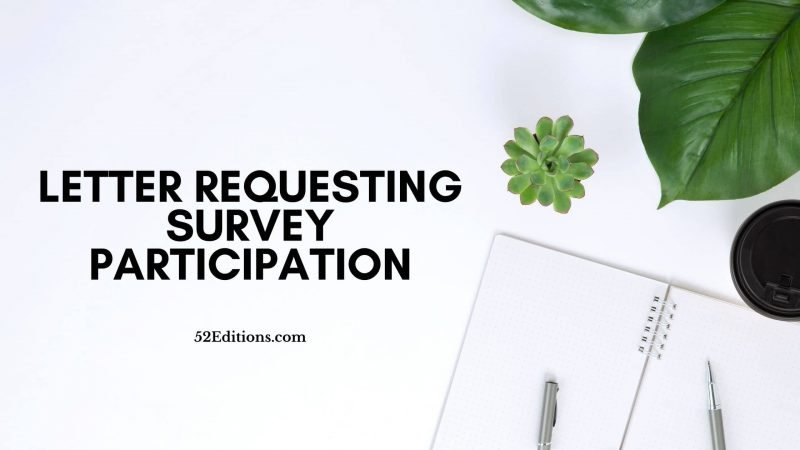 Letter Requesting Survey Participation