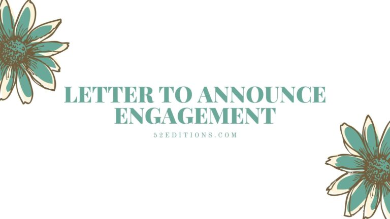 Letter To Announce Engagement