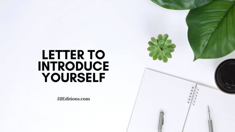 Letter To Introduce Yourself