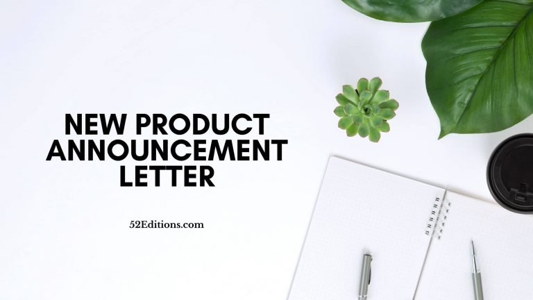 New Product Announcement Letter
