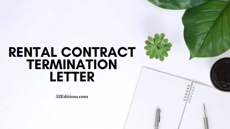 Rental Contract Termination Letter