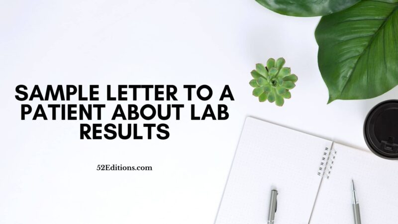 Sample Letter To a Patient About Lab Results