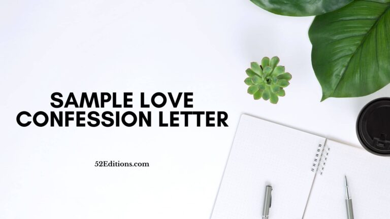 Sample Love Confession Letter