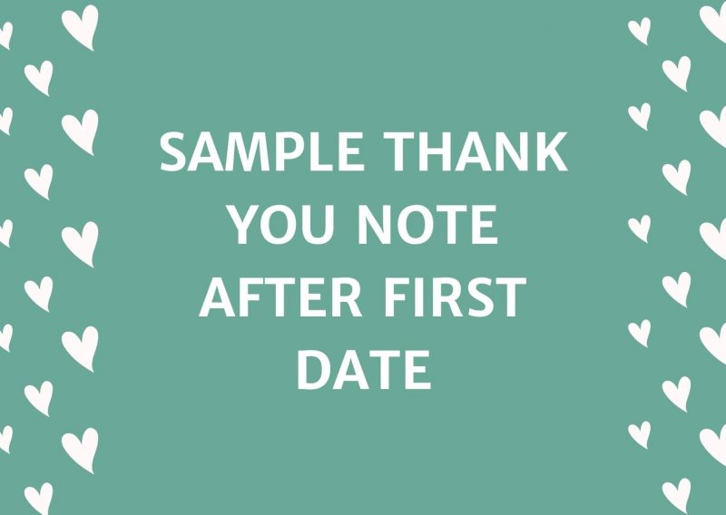 Sample Thank You Note After First Date
