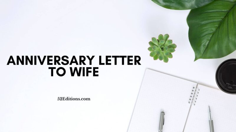 Anniversary Letter To Wife