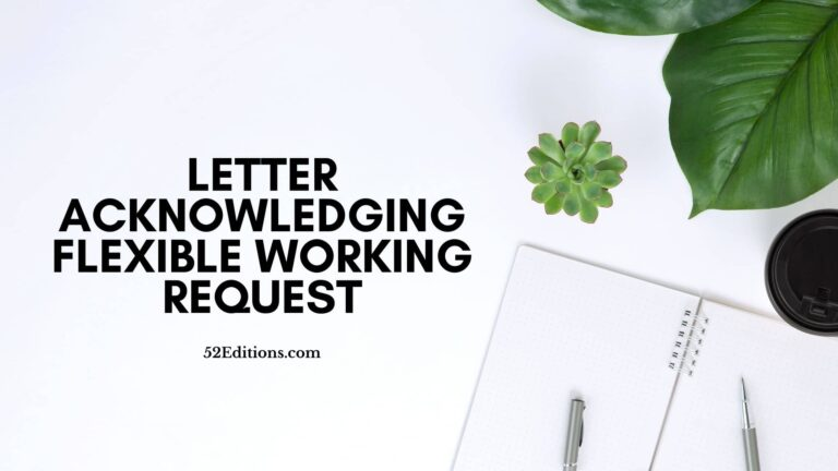Letter Acknowledging Flexible Working Request