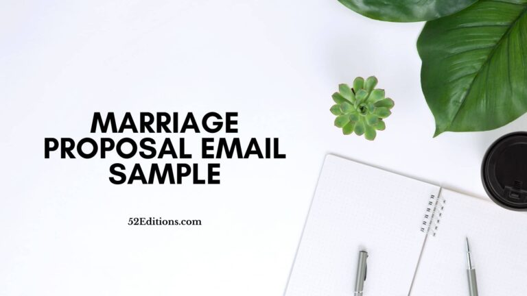 Marriage Proposal Email Sample