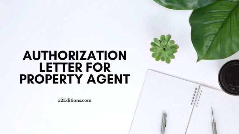Authorization Letter For Property Agent