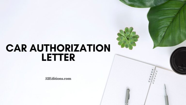 Car Authorization Letter