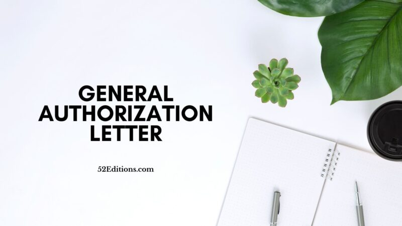 General Authorization Letter
