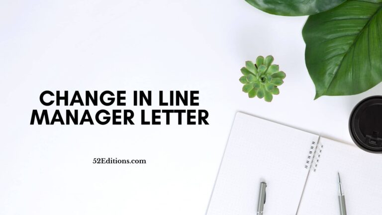 Change In Line Manager Letter