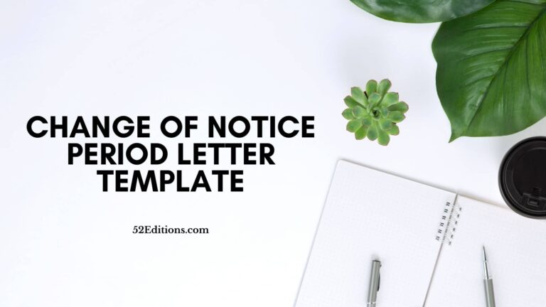 Change of Notice Period Letter Template