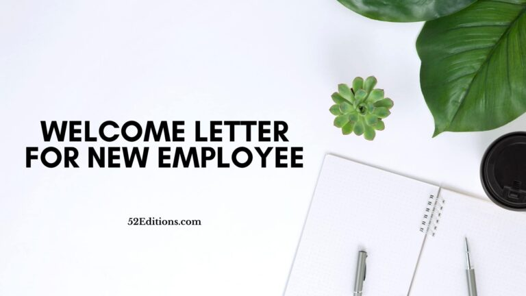 Welcome Letter For New Employee